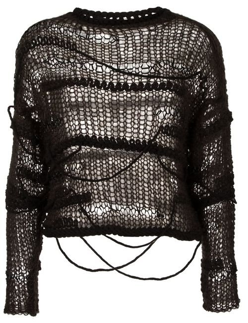 Isabel Benenato | Женское Чёрный Open Knit Jumper