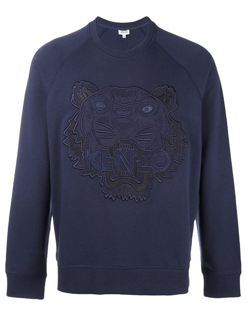 Kenzo   Мужское Синий Tiger Sweatshirt