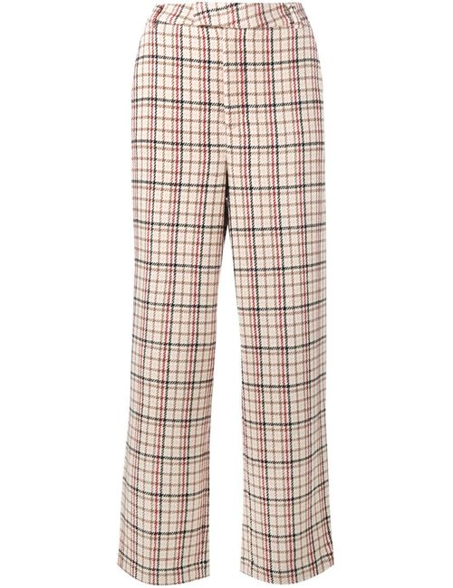 Ganni | Nude & Neutrals Duncan Check Trousers
