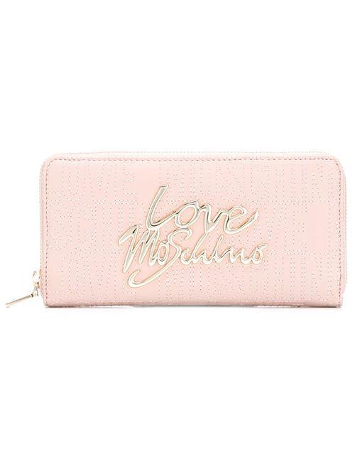 Love Moschino | Женское Розовый Logo Plaque Wallet