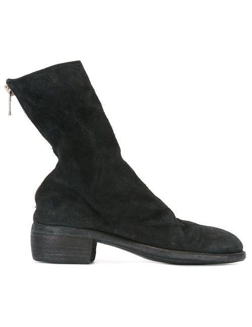 GUIDI | Женские Чёрные Ботинки На Молнии