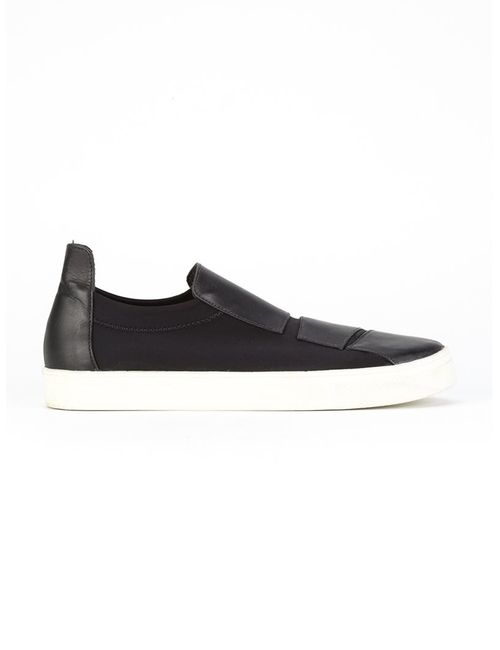 GLORIA COELHO   Чёрный Leather Sneakers