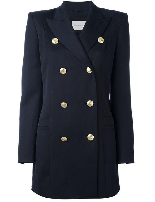 Pierre Balmain | Женское Синий Structured Shoulder Military Coat