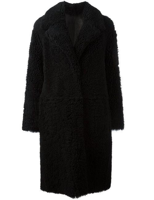Drome | Женское Черный Oversized Fur Coat