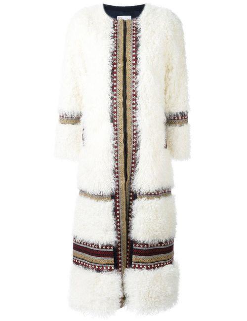 Red Valentino | Женское Белый Striped Long Coat