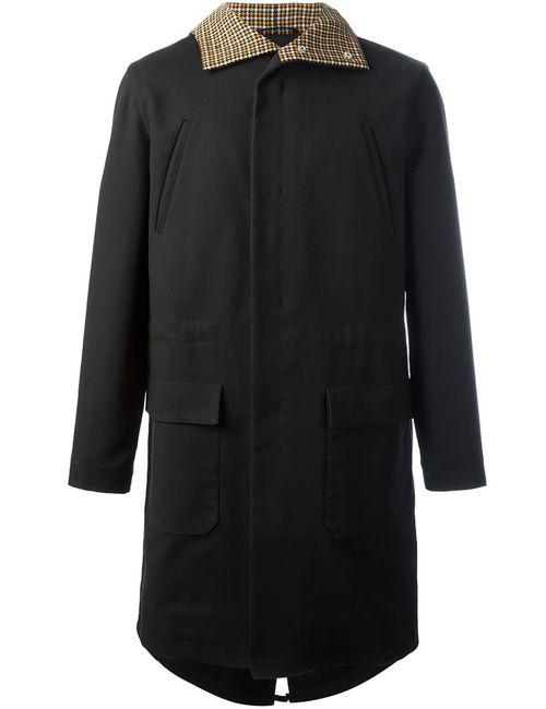 Raf Simons   Мужское Чёрное Пальто На Молнии С Капюшоном