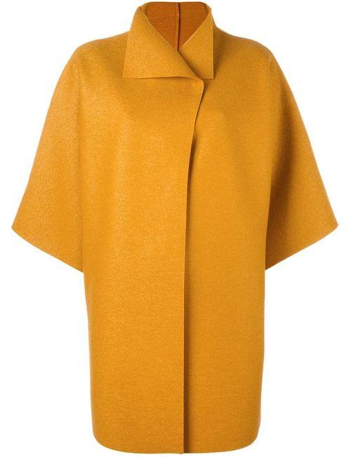 Harris Wharf London   Женское Жёлтое Пальто С Короткими Рукавами