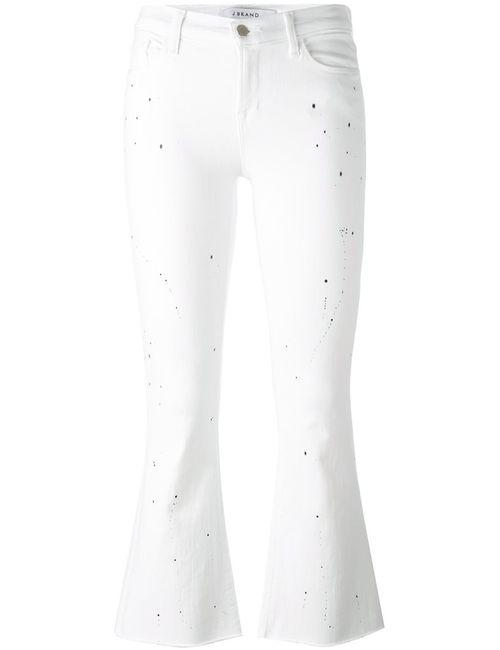 J Brand | Женское Белый Burnt Effect Cropped Jeans