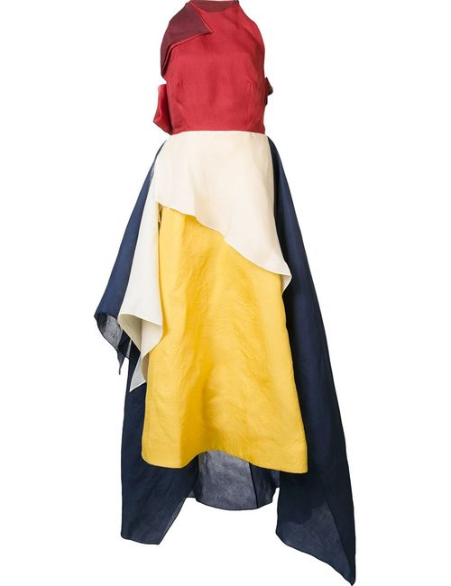Rosie Assoulin   Женское Желтый Draped Asymmetric Dress