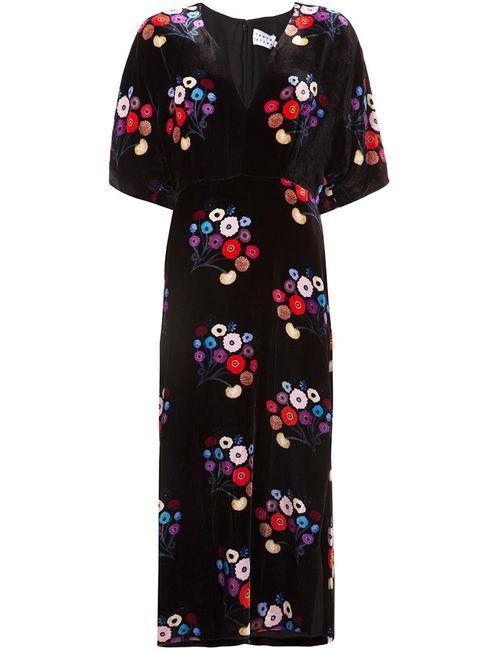 TANYA TAYLOR | Женское Черный Kimono Style Print Dress