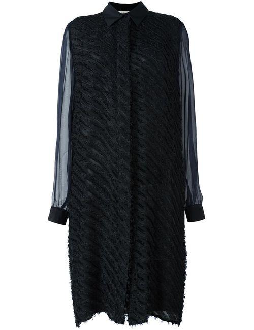 Marco De Vincenzo | Женское Чёрное Полосатое Платье-Рубашка