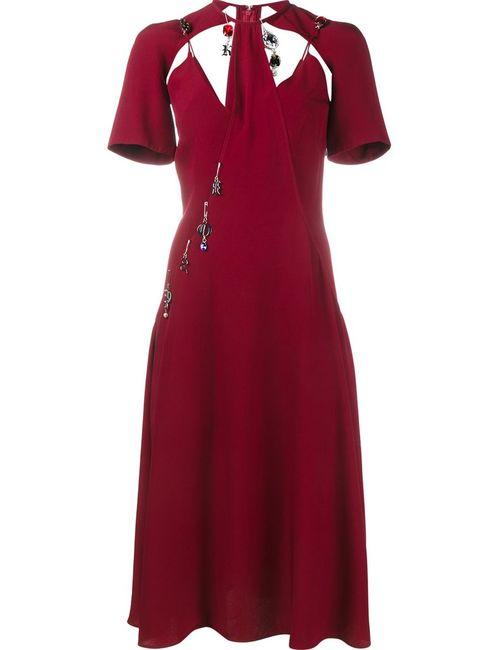 Christopher Kane | Женское Красное Платье С Подвесками