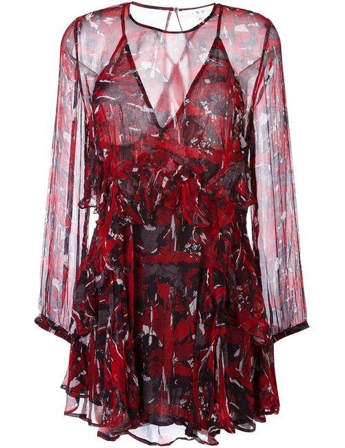 Iro | Женское Красное Платье С Оборками