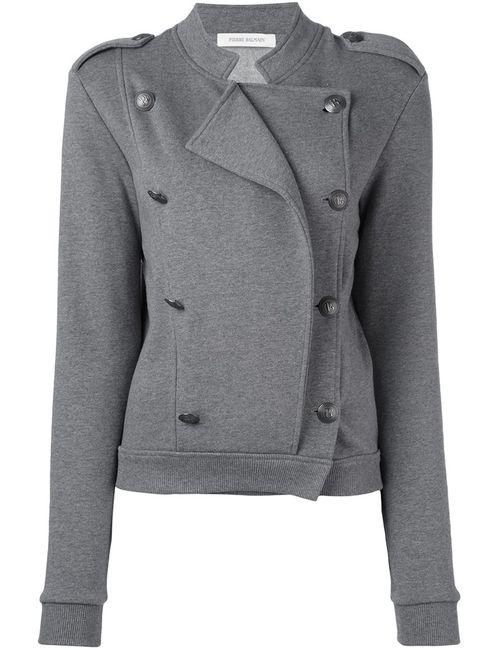 Pierre Balmain | Женская Серая Приталенная Двубортная Куртка