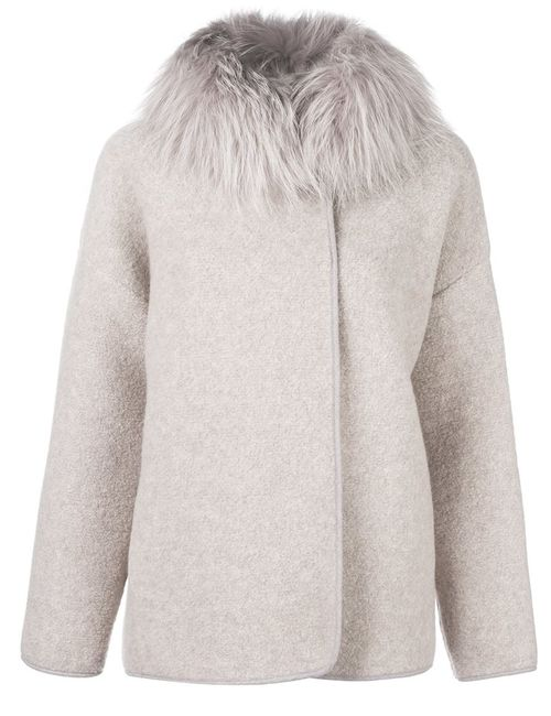 Fabiana Filippi | Женское Nude & Neutrals Fur Collar Jacket