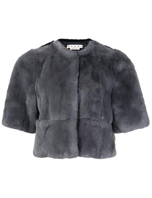 Marni | Женское Серый Cropped Fur Jacket