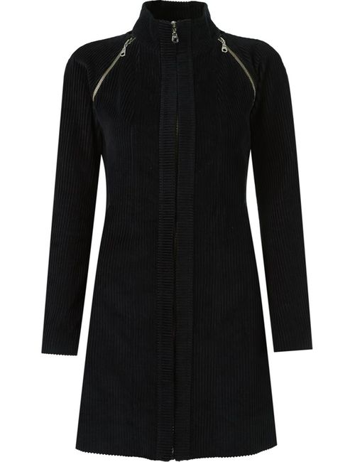 GLORIA COELHO | Женское Чёрный Panel Ribbed Coat