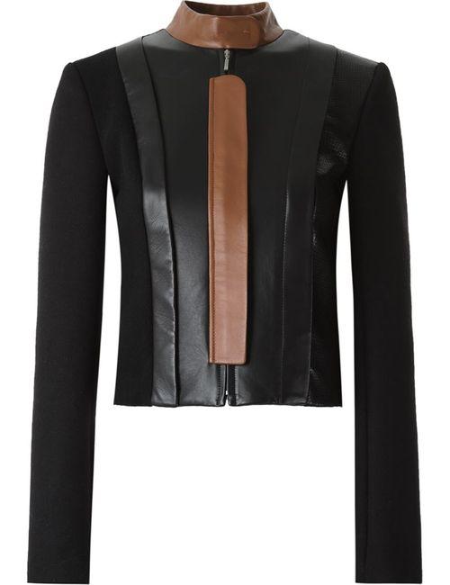 GLORIA COELHO | Женское Черный Leather Panel Jacket