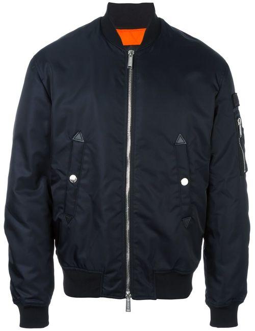 Dsquared2 | Мужская Синяя Куртка-Бомбер Military