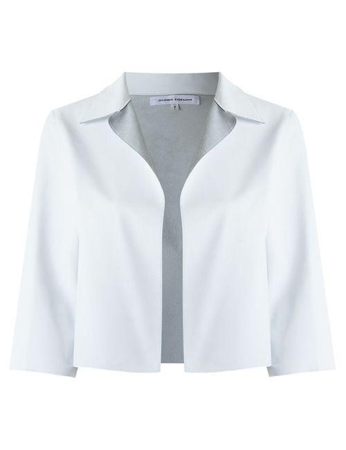 GLORIA COELHO | Женское Белый Crop Leather Jacket