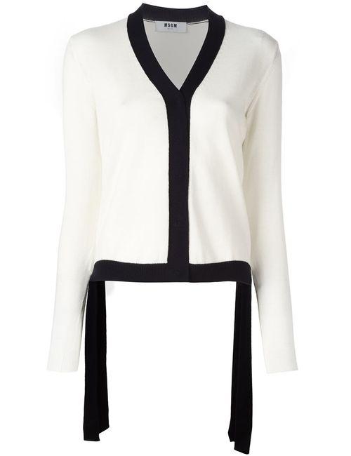 MSGM | Женское Белый Monochrome Knit Cardigan