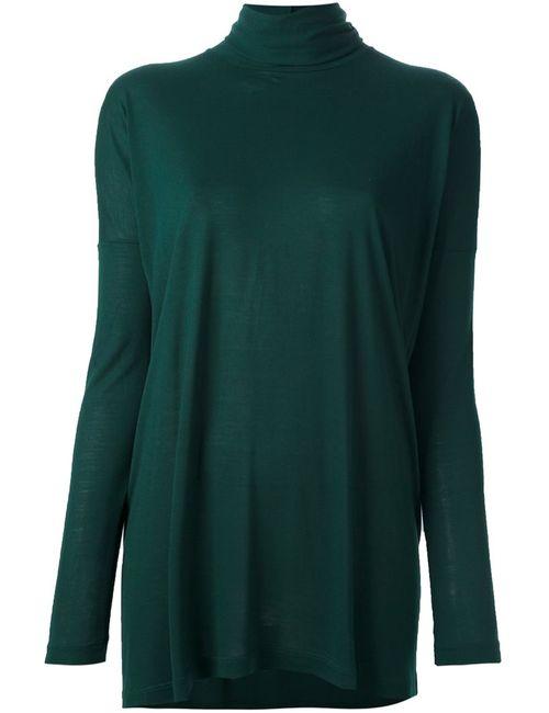 MM6 by Maison Margiela | Женский Зелёный Джемпер С Высоким Горлом