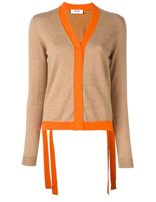 MSGM | Женское Nude & Neutrals Colour Block Cardigan