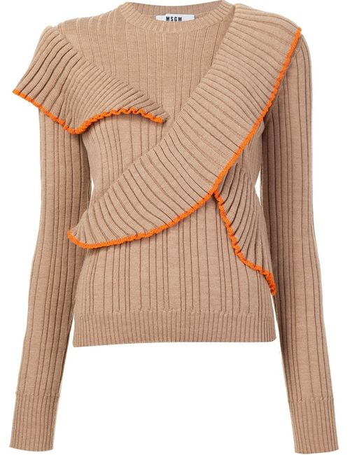 MSGM | Женское Nude & Neutrals Ruffled Jumper