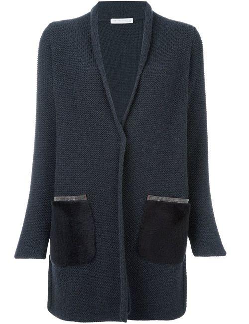Fabiana Filippi | Женское Серый Long Contrast Pocket Cardi-Coat