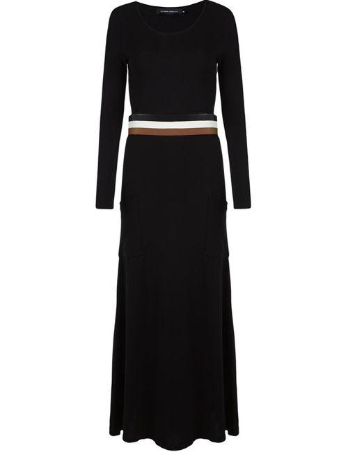 GLORIA COELHO | Женское Чёрный Knit Long Dress