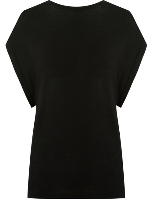 GLORIA COELHO   Женское Чёрный Cap Sleeves Knit Blouse