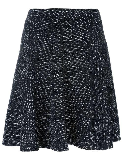 Steffen Schraut   Женское Чёрный Flocked A-Line Skirt