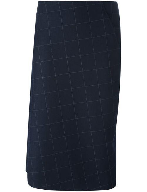 Brunello Cucinelli | Женское Синий Jacquard Asymmetric Skirt