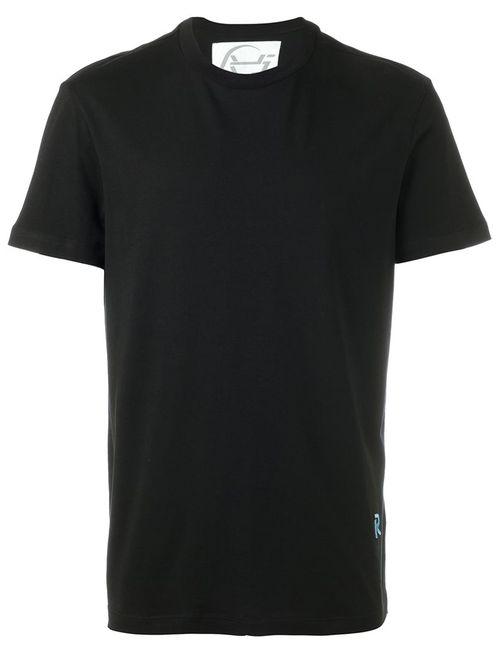 Raf Simons | Мужская Чёрная Футболка С Вышитым Логотипом