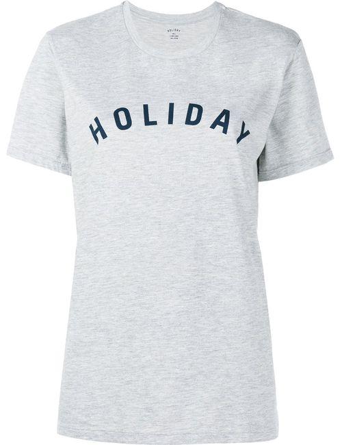 Holiday | Женское Серый Logo Print T-Shirt