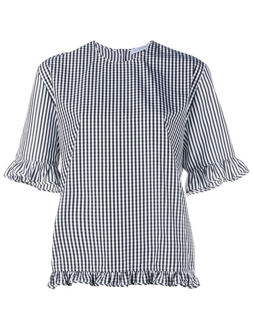 J.W. Anderson | Женское Черный J.W.Anderson Checked Blouse