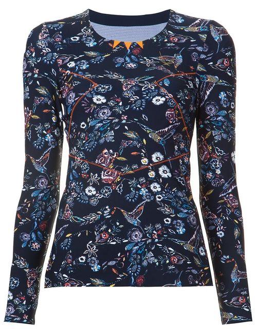 Lucas Hugh | Женское Синий Print Fine Knit Sweatshirt
