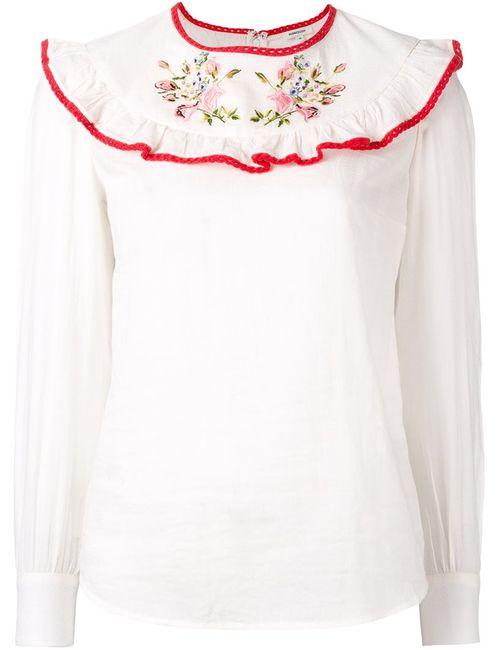 Manoush   Женское Белый Ruffle Front Blouse