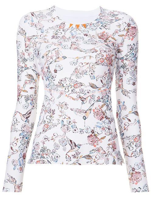 Lucas Hugh | Женское Белый Print Fine Knit Sweatshirt