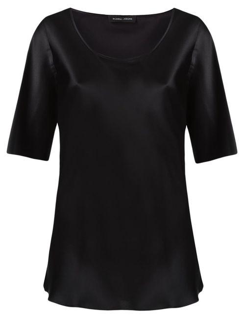 GLORIA COELHO | Женское Чёрный Round Neck Blouse