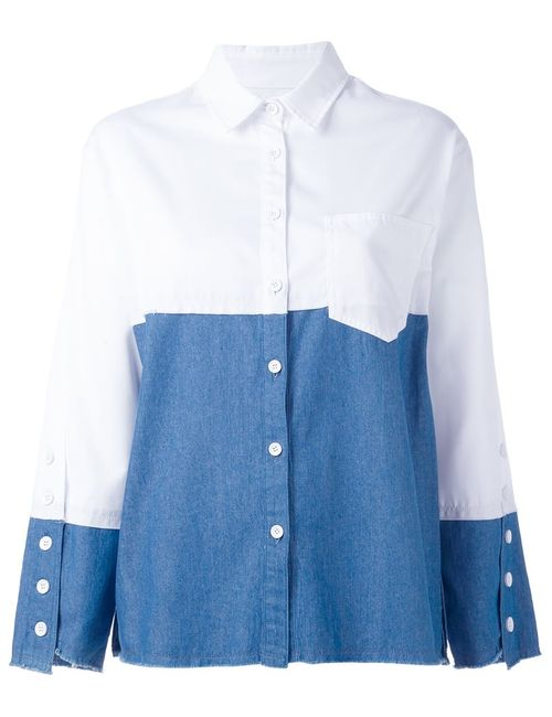 Steve J & Yoni P | Женское Белый Bicolour Boxy Shirt