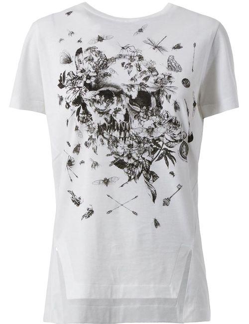 Alexander McQueen | Женское Белый Insect Skull Print T-Shirt