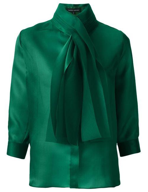 GLORIA COELHO | Женское Зелёный Bow Detail Shirt