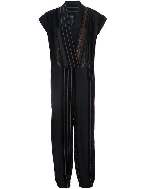 Zero + Maria Cornejo | Чёрный V Neck Jumpsuit