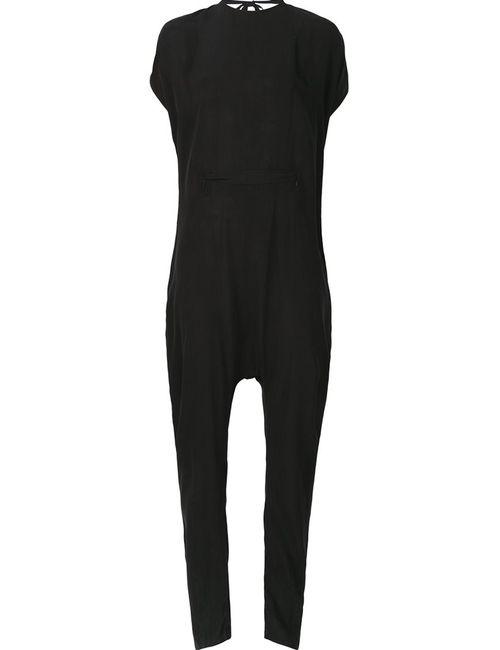 Barbara I Gongini   Чёрный Open Back Jumpsuit