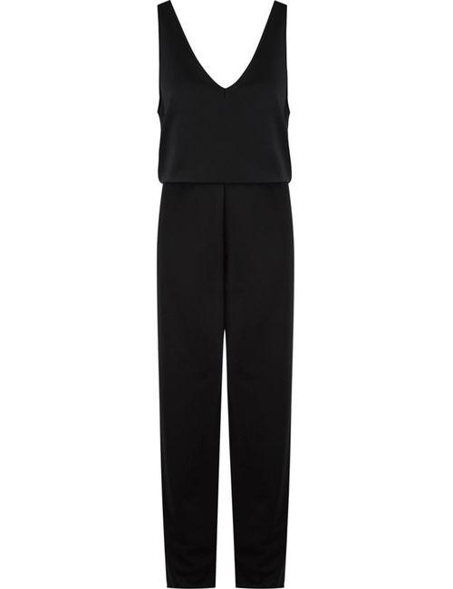 GLORIA COELHO   Чёрный Belted Sleeveless Jumpsuit
