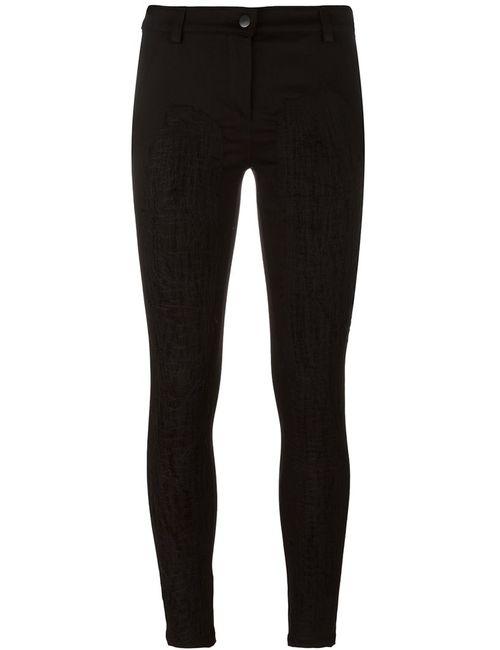 ANDREA YA'AQOV | Чёрный Stitching Detail Trousers