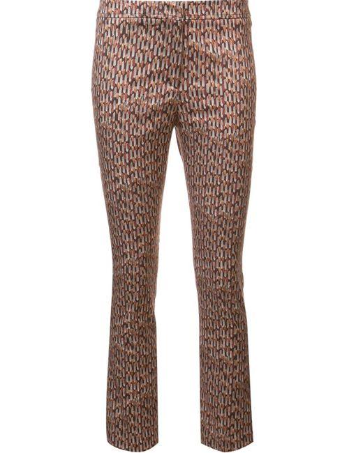 Ql2 | Желтый Geometric Print Cropped Trousers