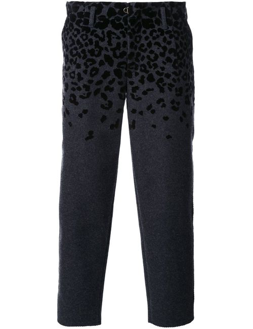 Kolor | Серый Animal Print Cropped Tapered Trousers