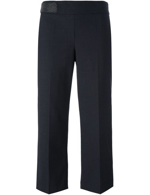 Brunello Cucinelli | Чёрный Pleated Cropped Trousers